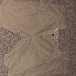 Boot cut khaki pants